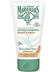 Le Petit Marseillais Crème Visage & Corps Hypoallergénique Aloe Vera & Calendula Tube 75 ml - Lot de 2