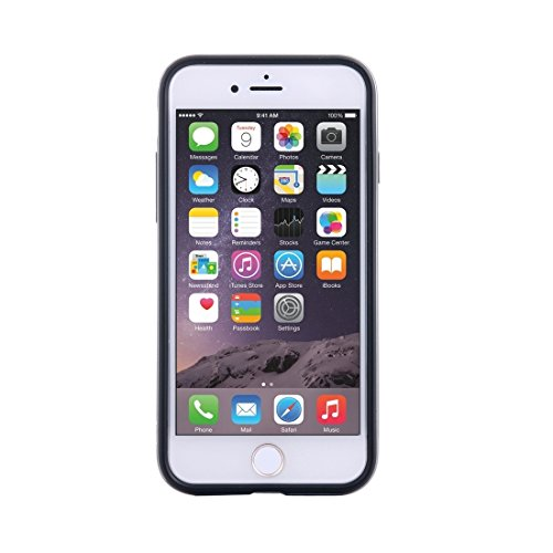IPhone 6 u. 6s Fall hockproof TPU + PC schützender Fall mit Halter für iPhone 6 u. 6s by diebelleu ( Color : Grey ) Grey