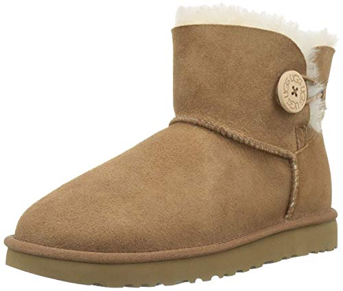 UGG Mini Bailey Button II 1016422 - Botas cortas para mujerr, Marrón Chestnut, 38 EU