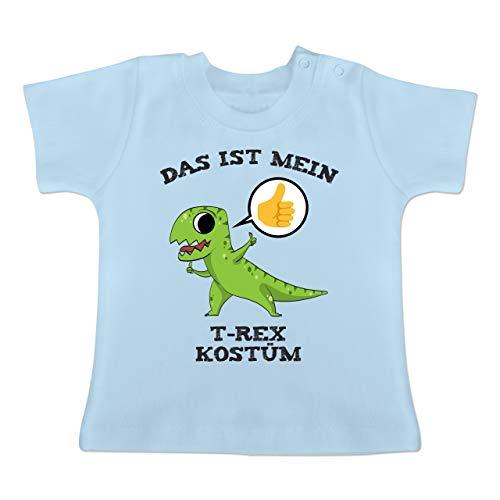 Karneval und Fasching Baby - Das ist Mein T-Rex Kostüm Comic - 3-6 Monate - Babyblau - BZ02 - Baby T-Shirt Kurzarm (Trex Baby Kostüm)