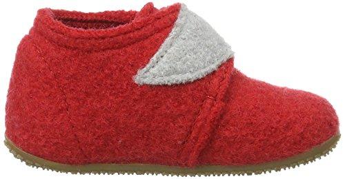 Living Kitzbühel Babyklett Fuchs Mit Brille, Chaussures Marche Bébé Garçon Rouge - Rot (hibiskus 353)