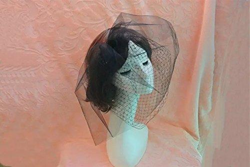 Goliton® Damen Mode Foto Fotografie Hochzeit Gesicht Schleier Maske - Schwarz