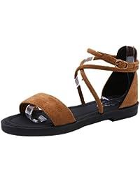 Sandalias hogar de verano para hombre y mujer,Sonnena Zapatillas de pareja sandalias antideslizantes sandalias chanclas de playa y hogar