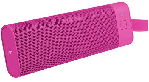 KitSound BoomBar+ Tragbarer Wireless Bluetooth Lautsprecher Soundsystem mit 3.5 Audioeingang Universal Kompatibel mit Apple und Android Smartphones, Tablets und MP3-Playern - Pink
