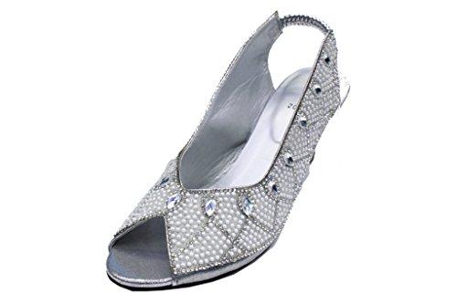 Wear & Walk UK , Damen Sandalen Silber