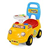 Toyshine Buzzing Car Rider Ride-on Toy with Music, 1.5-3 Years, Yellow