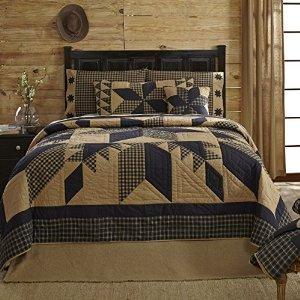 Dakota Star Primitive Country Patchwork Luxury King Quilt 120