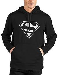Bookmytees Superman Fan Art Full Sleeves Printed Cotton Hoodie For Men