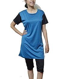 TAB FASHION SwimWear for Women(Long)Blue