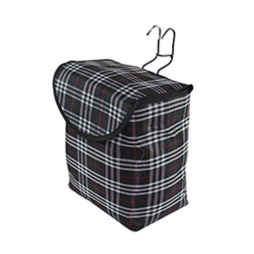 10L klappbare Tragekorb Tasche für Fahrrad-Lenkerlagerkorbträger Solide Gitter Fahrrad Eimer mit Deckel Schwarz