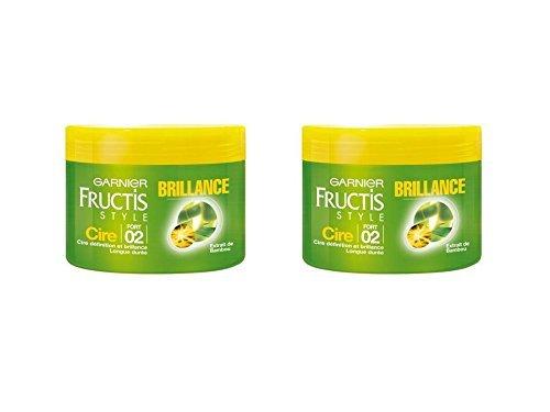 Garnier - Fructis Style - Cire cheveux - brillance Fixation forte 2 extrait de bambou - Lot de 2