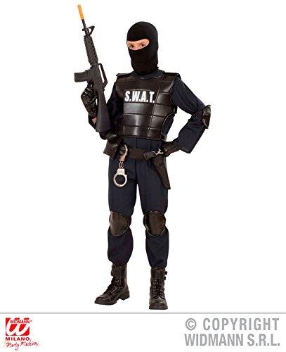 KINDERKOSTÜM - S.W.A.T. AGENT - Größe 140 cm , Uniformen CIA FBI Spezialeinheiten Spezial (Halloween Uniform Polizei)
