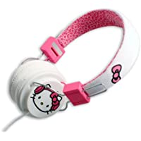 Hello Kitty in the City White with Pink Bow Headphones