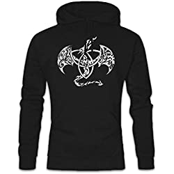 Celtic Dragon IV Hoodie Sudadera con Capucha Sweatshirt Tamaños S – 2XL