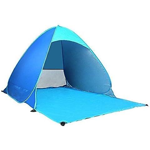 Automatico Pop up tenda familiare 2–3portatile impermeabile e resistente, Sport all' aperto campeggio arrampicata..., Blue