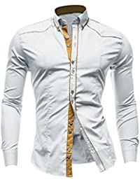 Hommes Point Col Veste Droite Front Décontracté T-shirt