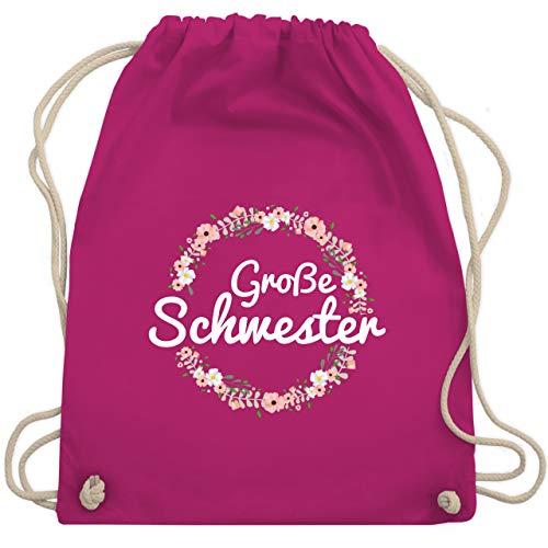 Geschwisterliebe Kind - Große Schwester Blumenkranz - Unisize - Fuchsia - WM110 - Turnbeutel & Gym Bag
