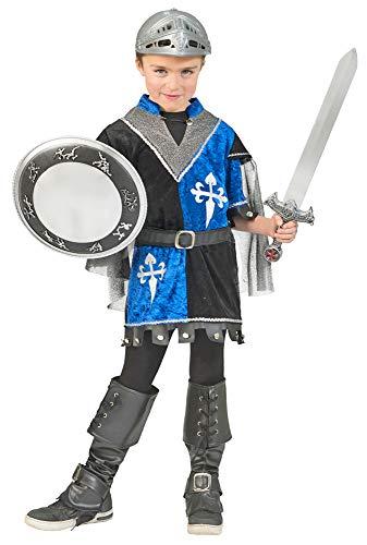 Funny Fashion Ritter Tristan Kostüm Schwarz Blau - Gr. - Prinzessin Tapferen Kostüm