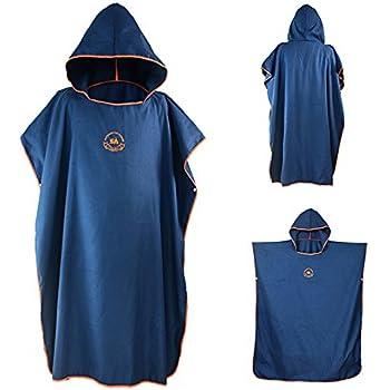 ac608469092 Ele Eleoption Serviette en robe Poncho avec capuche en microfibre, compacte  et légère, idéale