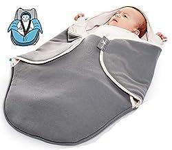 Wallaboo Einschlagdecke Coco, Sehr praktische und Kuschelweiche Babydecke, 100% Baumwolle, 90 x 70 cm, Farbe: grey