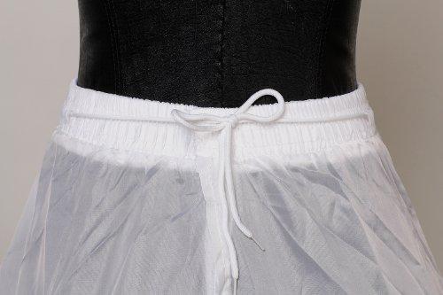 HIMRY Sottogonna 3 cerchio, Crinolina sottoveste, per Vestito Abito da Sposa, KXB-005 Bianco