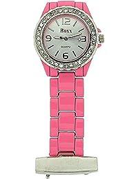 Boxx Pink Enamel Nurses/Beauticians Fob Watch BOXX013