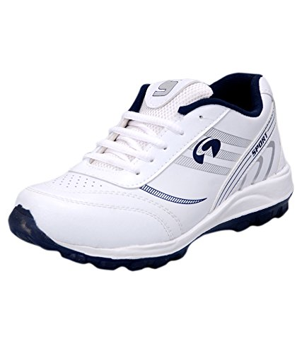 Jollify Mens sport white Synthetic leather shoes-10