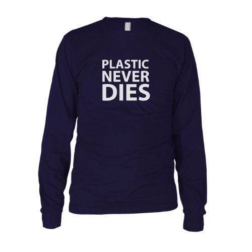 Plastic never Dies - Herren Langarm T-Shirt Dunkelblau