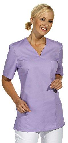 clinicfashion 12612022 Schlupfhemd flieder für Damen, Mischgewebe, Größe L