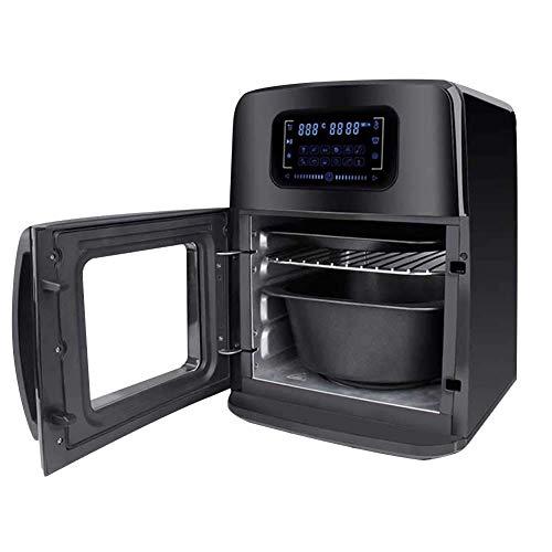 Bakaji 2832412 Horno freidora de aire caliente Airfryer, pantalla LED táctil, 12 programas, temporizador...