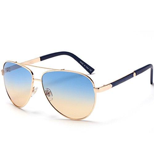XXFFH Sonnenbrille Schatten Polarisierende Brille Klassische Sonnenbrille Designer-Sonnenbrillen Für Damen Und Herren Sonnenbrillen Metall , 1 (Damen Kaffee Justin)