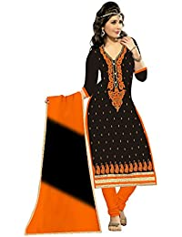 MAHI FASHION Women's Cotton Dress Material (MF31_Free Size_Multi-Coloured)