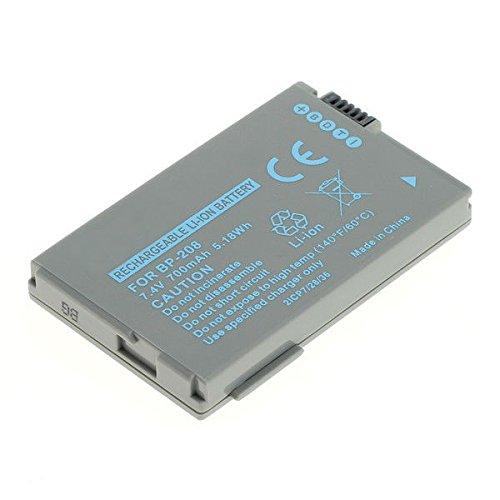 subtel® Batería premium para Canon DC100 DC10 DC95 DC51 DC50 DC40 DC30 DC230 DC220 DC22 DC210, Canon IVIS DC200, Canon Optura S1 600, Canon MVX4i MVX1Si MVX460 MVX450 MVX430, Canon IXY DV-M5, IXY DVX1, Canon HR10, Canon FVM300, Canon Elura 100 (700mAh) BP-208,BP-208DG bateria de repuesto, pila reemplazo, sustitución