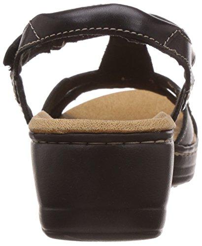 Clarks Hayla Flute Damen Sandalen Schwarz - Noir (Black Leather)