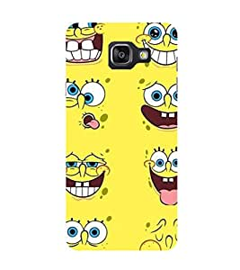 SAMSUNG GALAXY A7 2016 SPONGE BOB PRINTED BACK CASE COVER by SHAIVYA