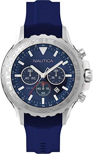 Nautica Orologio Analogico Quarzo Uomo con Cinturino in Silicone NAD18534G