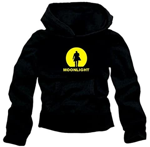 MOONLIGHT HOODIE schwarz/gelb Alex O'Loughlin GR.M