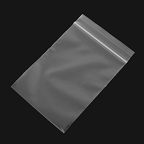 MYAMIA 100Pcs 8x12Cm Clear Plastic Zip Lock Bags Reclosable Storage Packaging Zipper Bags