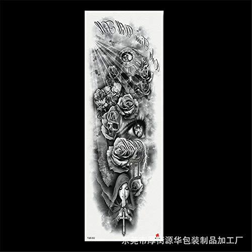 zgmtj 2019 nouveaux autocollants de tatouage de Bras de Fleur imperméable Grande Image TQB-002 170 * 480MM