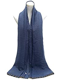 World of Shawls New Ladies Womens Glitter Sparkle Stardust Scarf Scarves Maxi Wrap - Stardust Plain/Beaded/Embroidered/Lace