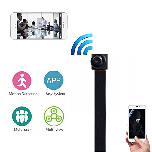 WIFI Spy Camera, HD1080P WIFI Hidden Camera Mini Wireless Security Camera Nanny Cam with Motion Detection