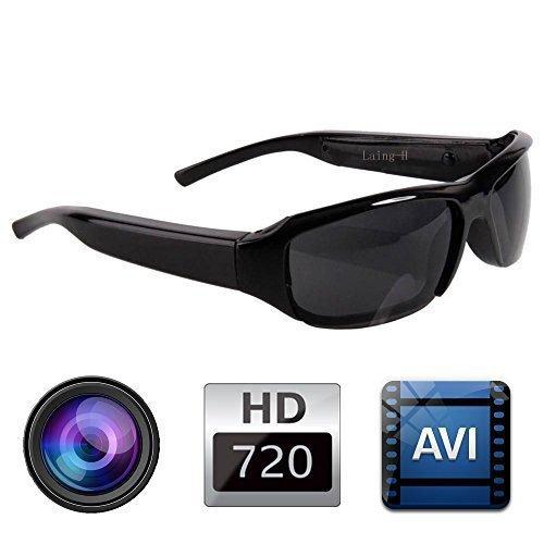 Gafas de sol de Moda HD Cam Mini Cámara Espía Oculta Grabadora de Video de audio DV Videocámara DVR 720P Soporte a Tarjeta de 32GB TF @ Laing-H