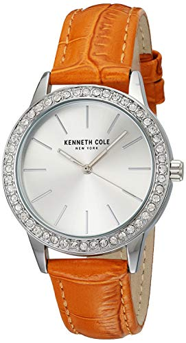 Kenneth Cole Women's Classic 33mm Orange Leather Band Quartz Watch 10031485
