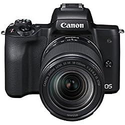 Canon EOS M50 Appareil Photo Hybride + EF-M 18-150 mm F/3.5-6.3 STM - Noir