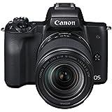 Canon EOS M50 spiegellose Systemkamera (24,1 MP, dreh-und schwenkbares 7,5 cm (3 Zoll) Touchscreen-LCD, Digic 8, 4K Video, OLED EVF,WLAN, bluetooth) + EF-M 18-150mm IS STM Objektiv schwarz