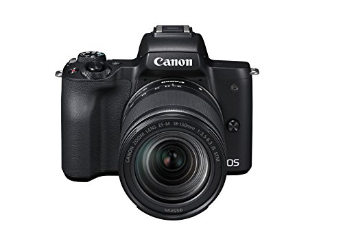 Canon EOS M50 spiegellose Systemkamera (24,1 MP, dreh-und schwenkbares 7,5 cm (3 Zoll) Touchscreen-LCD, Digic 8, 4K Video, OLED EVF,WLAN, bluetooth) + EF-M 18-150mm IS STM Objektiv schwarz -