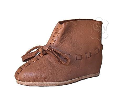 Enfants Chaussures médiéval viking médiéval Chaussures Enfants Chaussures LARP Taille 26–34 - marron - marron, 28