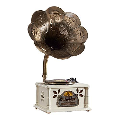 Grammofono Giradischi in Vinile,Desktop di a 3 velocità 33/45/78 Giri Funzionante Giradischi...