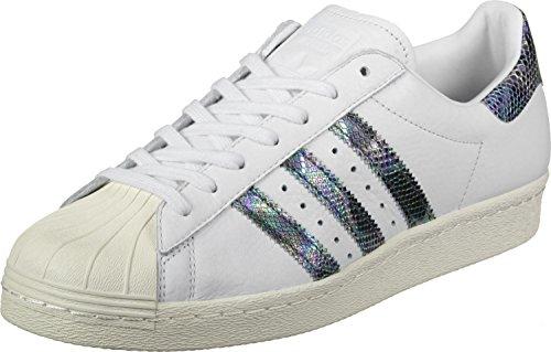 adidas Herren Superstar 80s Turnschuhe Weiß