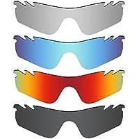 MRY 4 Paires polarisées Lentilles de Remplacement pour Oakley Radarlock  Path Vented Sunglasses-Stealth Noir 1ccb3cf7d336